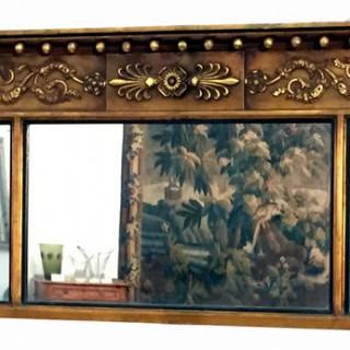 Antique Regency Gilt Overmantel Mirror