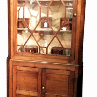 Antique Georgian Oak Double Corner Cupboard