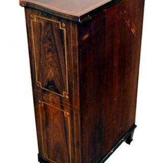 Antique Rosewood Serpentine Music Cabinet