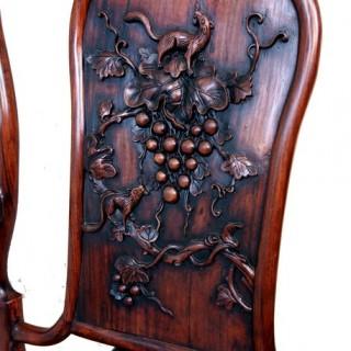 Antique Oriental Hardwood Armchair