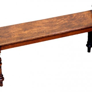 Antique Victorian Oak Hall Bench