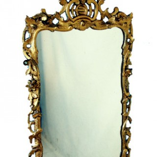 Antique Chippendale Rococo Gilt Wall Mirror