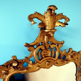 Antique Chippendale Rococo Gilt Wall Mirror