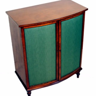 Regency Side Cupboard Cabinet Mahogany Bowfronted Antique