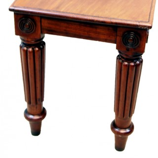 Antique Mahogany Window Seat Hall Bench