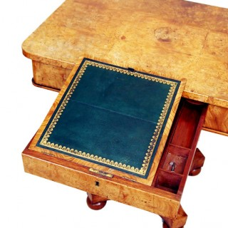 Antique Burr Elm Occasional Writing Table