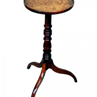 Antique Georgian Burr Elm Tripod Table