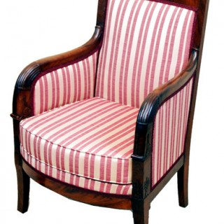 Antique French Empire Library Armchair
