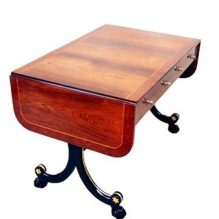 Antique Regency Rosewood & Ebonised Sofa Table