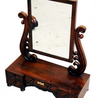 Antique Victorian Dressing Table Mirror