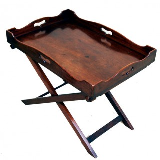Antique Georgian Tray On Stand