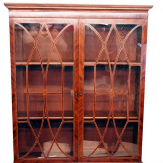 Antique Georgian Mahogany Secretaire Library Bookcase