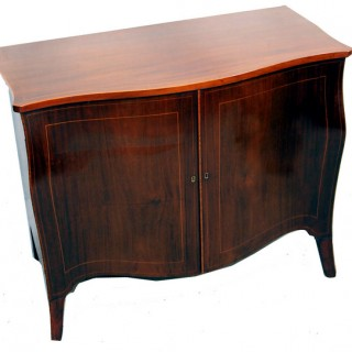 Antique Georgian Mahogany Serpentine Commode