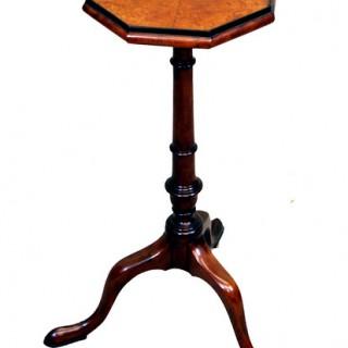 Georgian Style Mahogany & Amboyna Wine Table