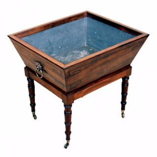 Antique Regency Mahogany Open Wine Cooler