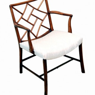 Antique Georgian Mahogany Cockpen Chair