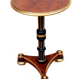 Antique Victorian Thuya, Gilt & Ebonised Occasional Table