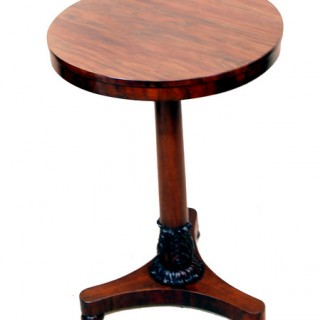 Antique Regency Goncalo Alves Occasional Lamp Table