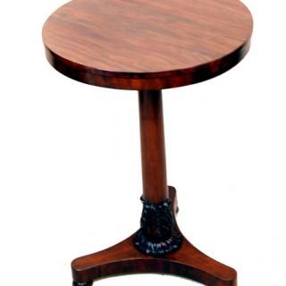 Antique Regency Goncalo Alves Occasional Lamp Table