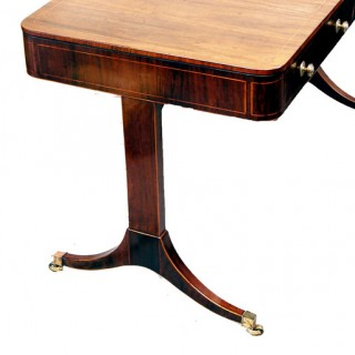 Antique Regency Rosewood Library Table