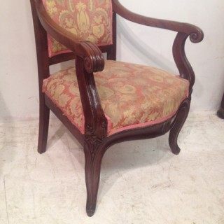 Pair of mahogany library chairs.