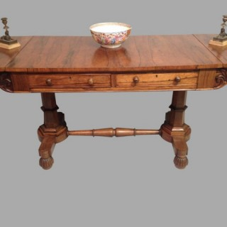 William IV rosewood sofa table.