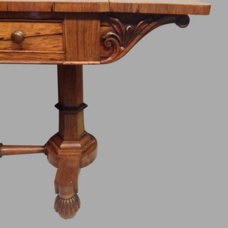 William IV rosewood sofa table.