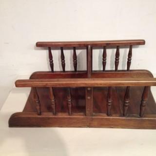 Georgian mahogany book carrier