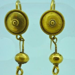 Antique Roman Gold Earings
