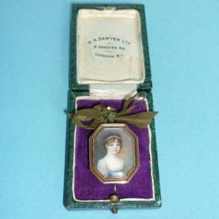 Georgian Miniature on Ivory