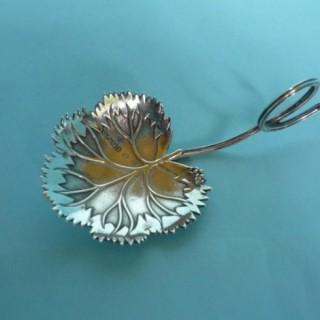 Silver Leaf Tea Caddy Spoon