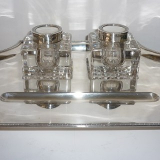 Large Silver Inkstand