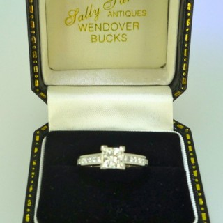 1.01princess cut diamond ring