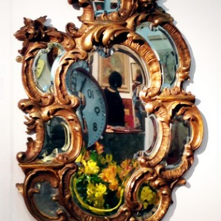 Antique 19th Century Rococo Gilt Wood Mirror