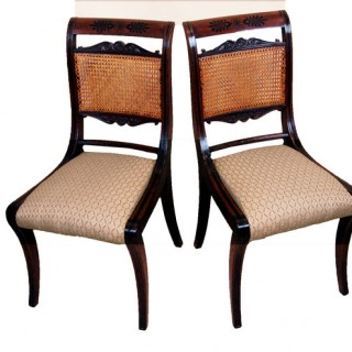Antique Regency Mahogany Pair Of Chairs