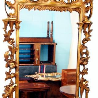 Antique Rococo Style Gilt Wall Mirror
