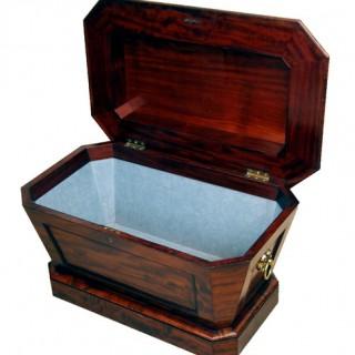 Antique Mahogany Sarcophagus Wine Cooler