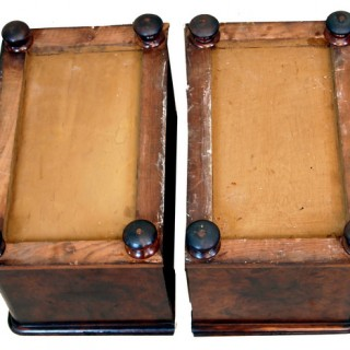 Antique Pair Walnut Miniature Chests