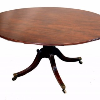 Antique Georgian Mahogany Oval Breakfast Dining Table