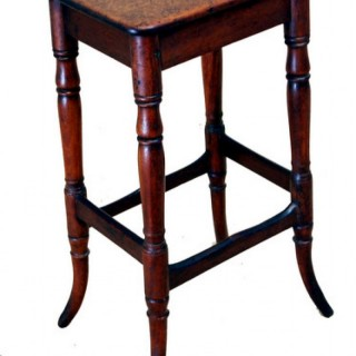 Antique 19th Century Mahogany Kitchen Stool