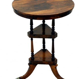 Antique Regency Rosewood Wine Table