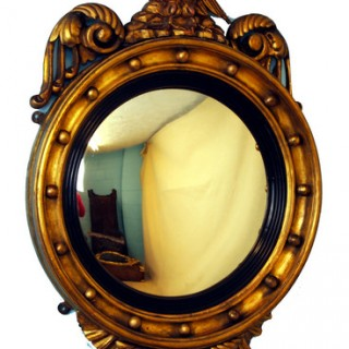 Antique Gilt Convex Mirror