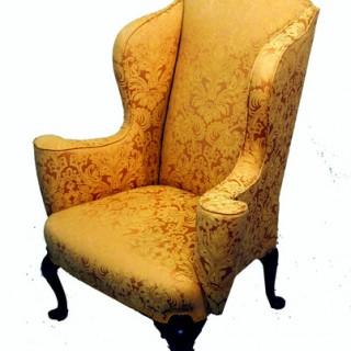 Antique Mahogany Wing Armchair