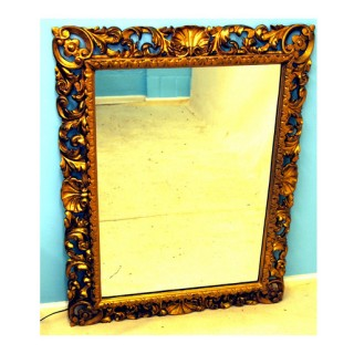 Antique Italian Gilt Wood Wall Mirror