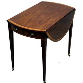 Antique Georgian Mahogany Oval Pembroke Table