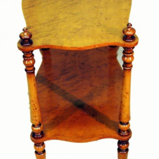 Antique Birds Eye Maple Etage Whatnot