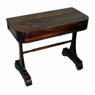 Antique Regency Rosewood Card Table