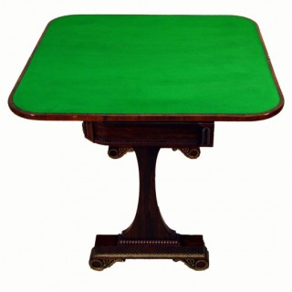 Antique Regency Rosewood Card Table