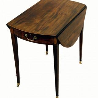 Antique Mahogany Oval Pembroke Table