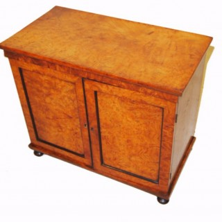 Antique Burr Elm Table Cabinet